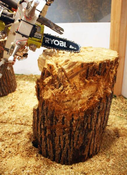 Fig. 15: Art-Bot chainsaw robotic tool