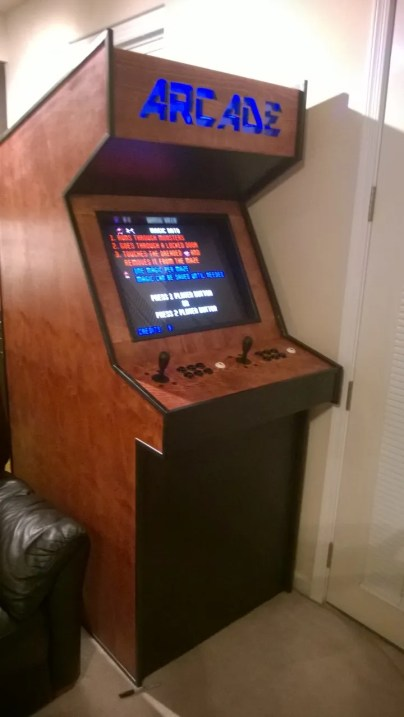 Arcade KickAss DIY MAME-based gaming machine. Doesn't look fun for player 2 though...
