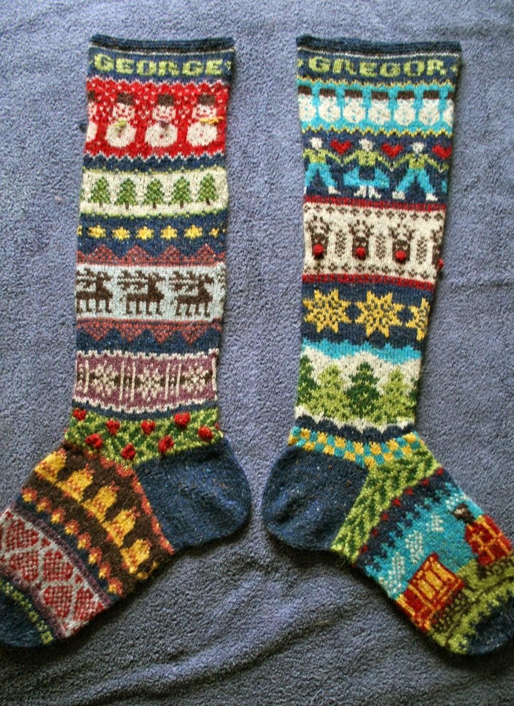 Knitting Holidays Shetland : Festive fair isle christmas stockings make