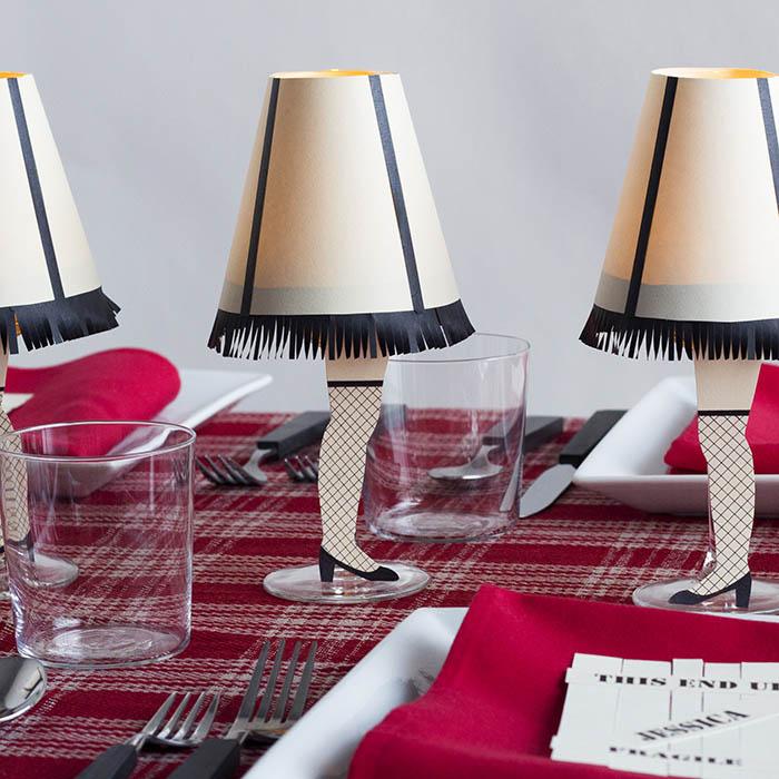 DIY A Christmas Story Wine Glass Lamps Make