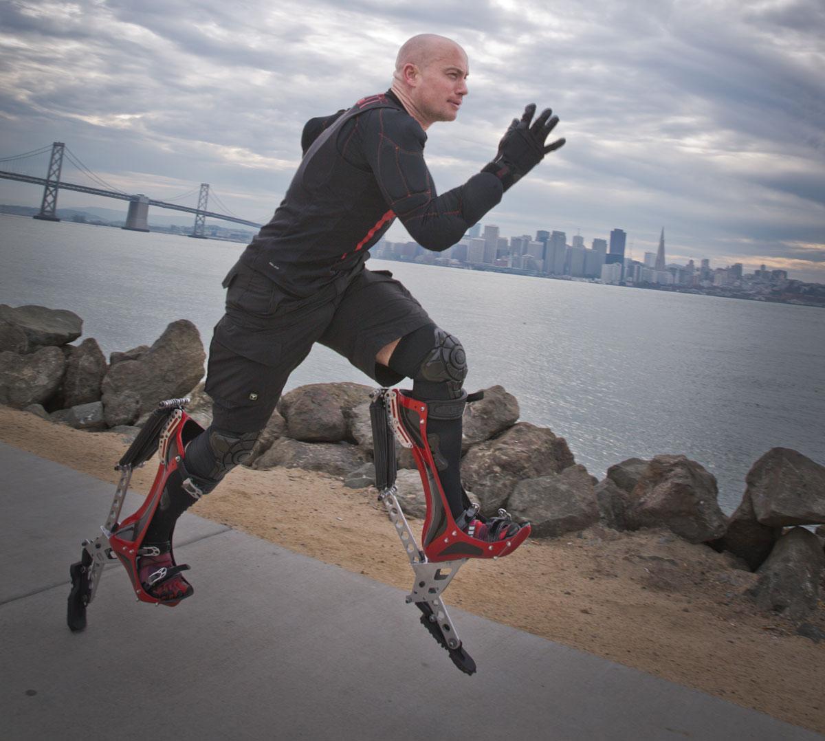 World S Fastest Man How I Built Bionic Boots Make