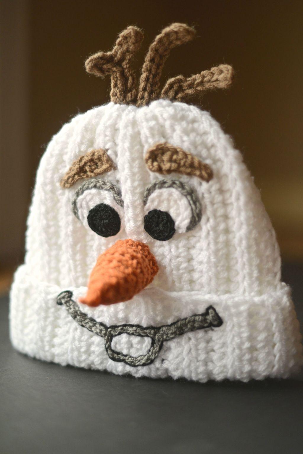 Crochet Pattern For Olaf : Homemade Crocheted Olaf Hat Make: