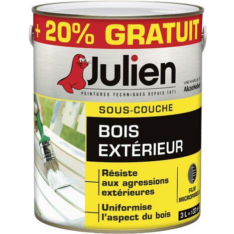 Sous-Couche Pour Bois Extérieur - aspect Mat Blanc 3L - Julien - 5108164 - Peinture Julien Sous Couche