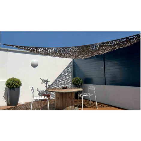 Voile D Ombrage Triangulaire Filet De Camouflage Beige - Filet Camouflage Terrasse