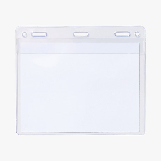 Clear Plastic Name Badge Holders (top-load) for Meetings/Events - MARCO