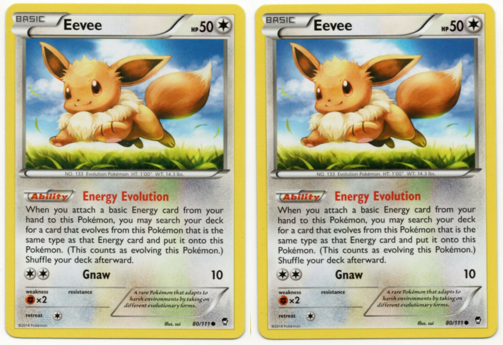 Collectible Card Games Xy Furious Fists Eevee 80 111 Common Pokemon Tcg Affaires Tn
