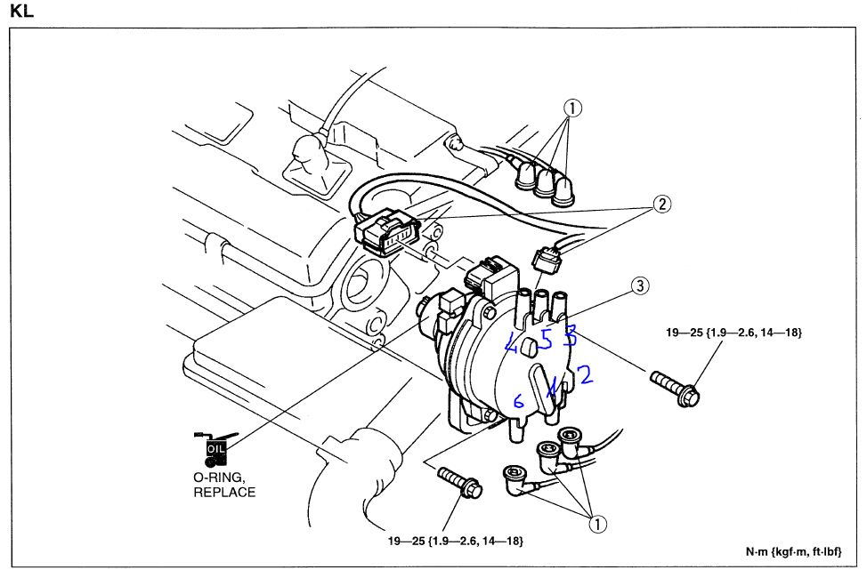 mazda mx6 distributor wiring diagram