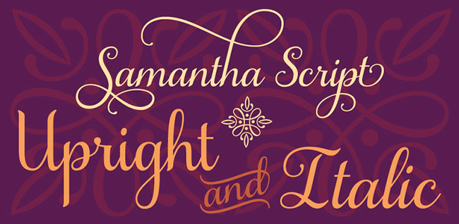 Samantha Script Font with Ligatures