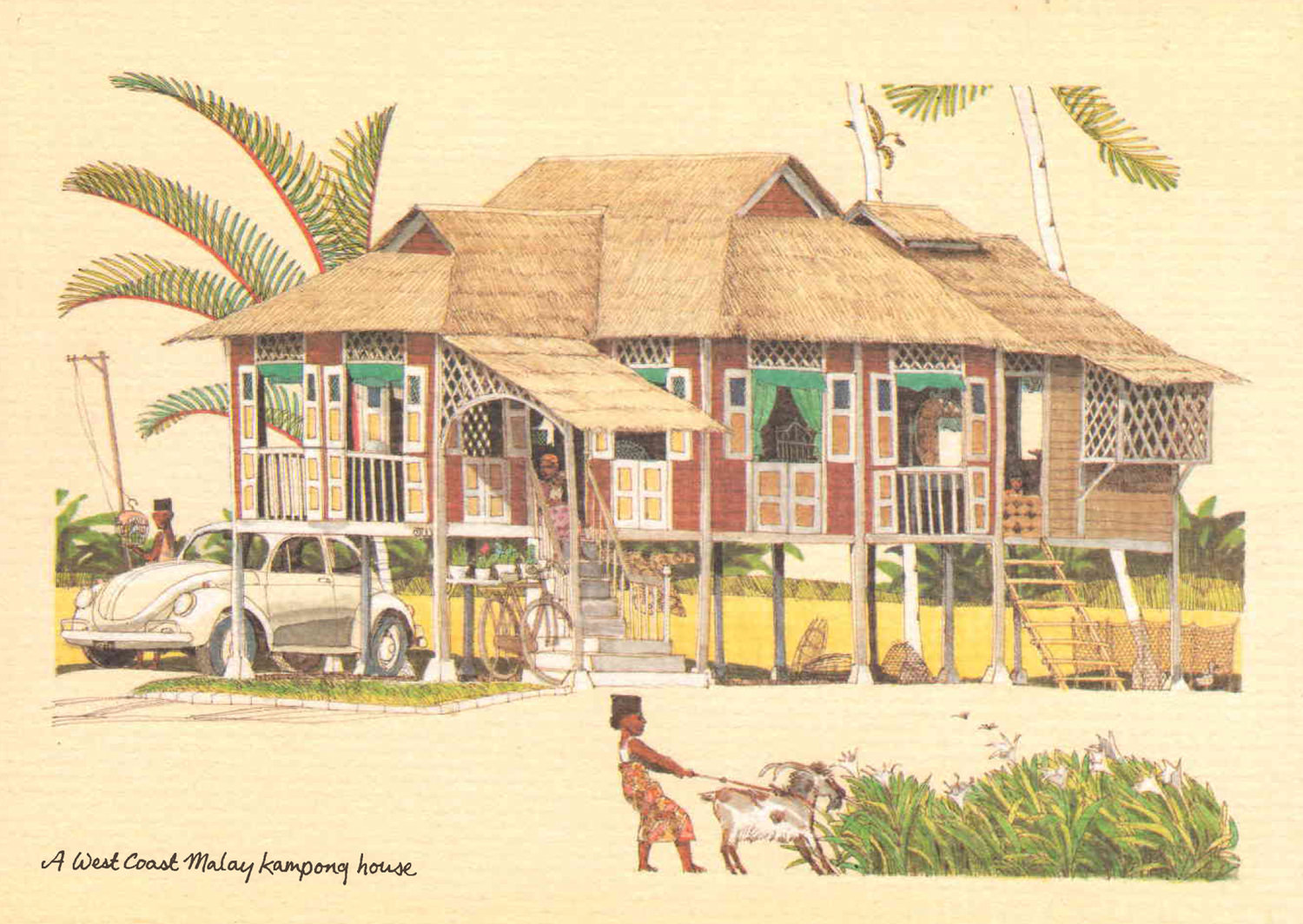 3d Wallpaper House Malaysia 8 Postcards On Life And Colonial Architecture In Malaya