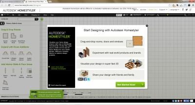 AutoDesk HomeStyler - Web Based Interior Design Software