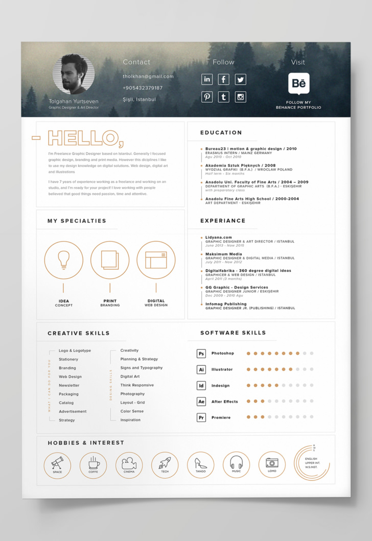 adobe illustrator cv template