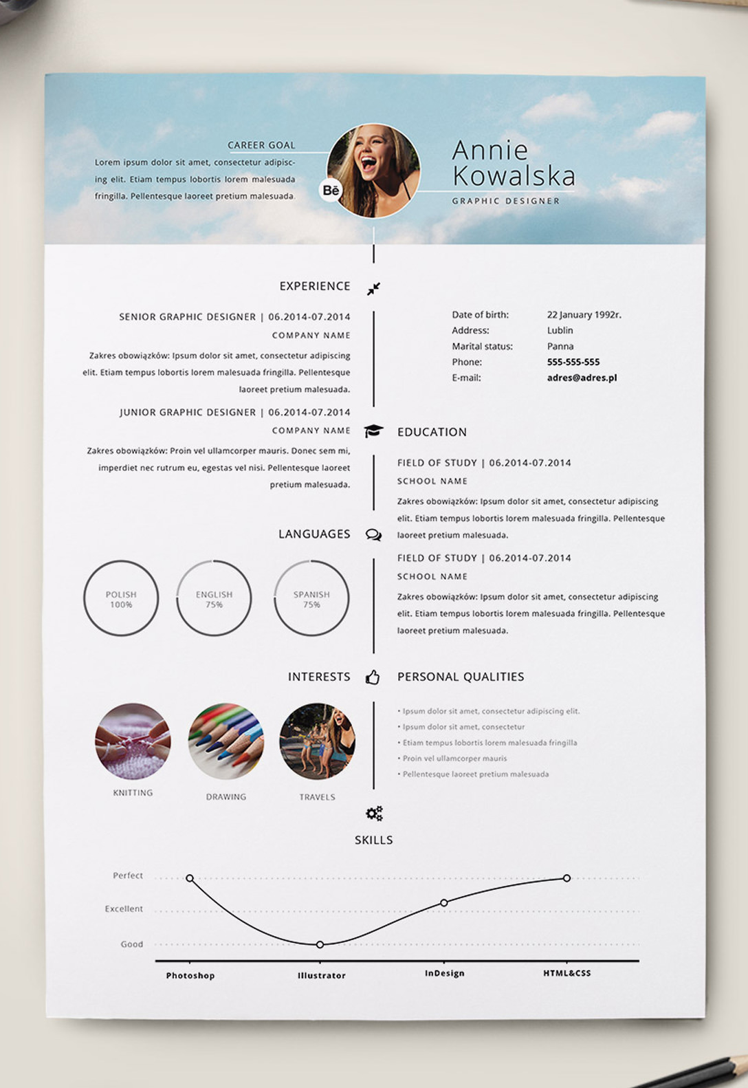 how to design a cv in indesign