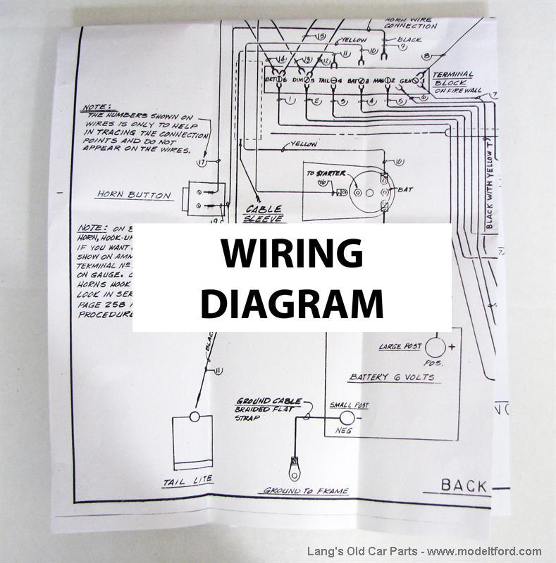 Model T Wiring diagram for the Improved Car, 5039B