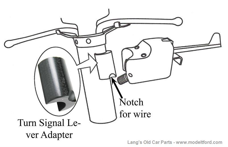 universal turn signal switch column mount auto electrical wiringmodel t turn signal adapter mounts lever to steering