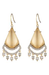 Alexis Bittar Crystal Chandelier Earrings In Gold | ModeSens