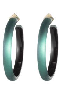 Alexis Bittar Large Lucite Hoop Earrings In Black Forest ...
