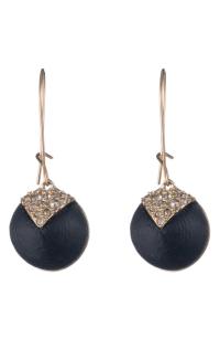 Alexis Bittar Crystal Encrusted Origami Dome Earrings In ...