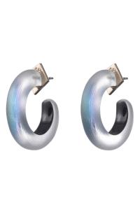 Alexis Bittar Hoop Earrings In Black Beetle | ModeSens
