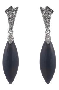 Alexis Bittar Crystal Encrusted Drop Earrings In Black ...