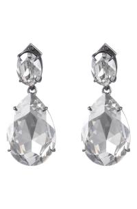 Alexis Bittar Oversized Crystal Teardrop Earrings In Clear ...