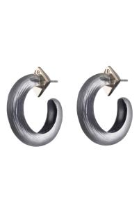Alexis Bittar Hoop Earrings In Black | ModeSens