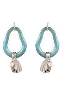 Alexis Bittar Organic Link Drop Earrings In Black Beetle ...