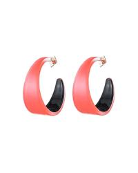 Alexis Bittar Lucite Hoop Earrings In Coral | ModeSens