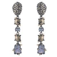 Alexis Bittar Linear Mixed-Cut Crystal Drop Earrings In ...
