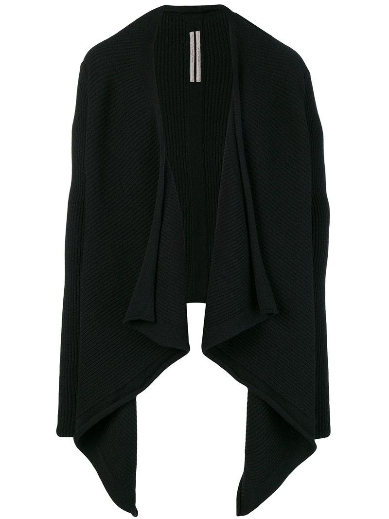 Cape Schwarz Rick Owens Pullover In Cape Optik Schwarz In Black