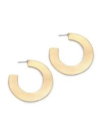"""Alexis Bittar Liquid Metal Orbital Hoop Earrings/1.8"""" In ..."""