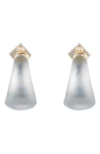 Alexis Bittar Huggie Hoop Earrings In Silver | ModeSens
