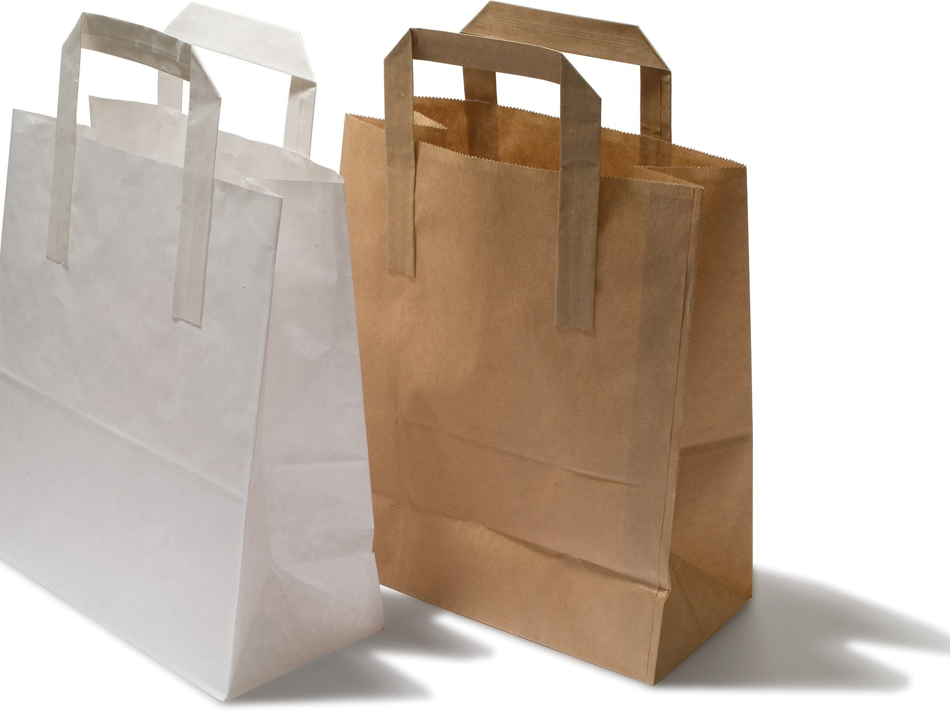 Brown Paper Bags With Handles Kmart Buy Paper Carrier Bag With Flat Handles Online At Modulor
