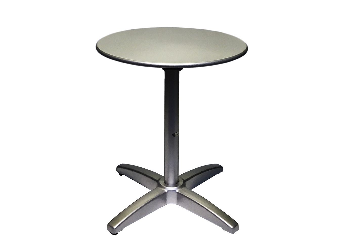 Berlin 24.de Berlin 24 Folding Round Tables Aluminum Silver