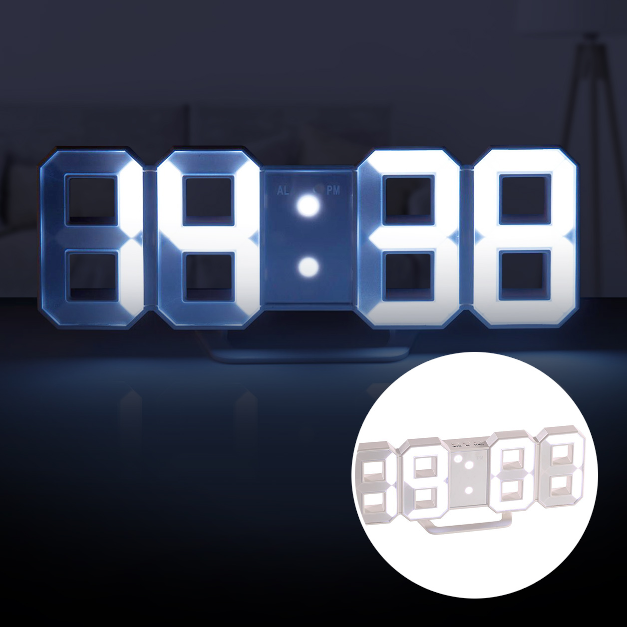 Led Wanduhren 3d Digitaluhr Mit Wecker 2in1 Led Wanduhr Tischuhr Digital