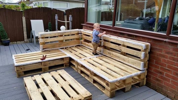 Sofas De Paletes Em L 122 Awesome Diy Pallet Projects And Ideas (furniture And