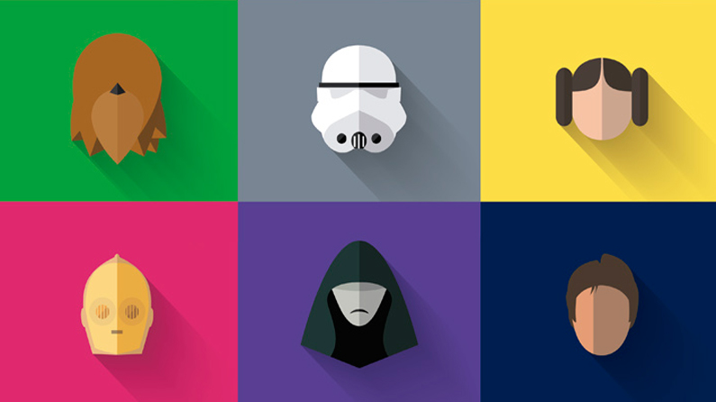 Free flat design Star Wars icons to download today Creative Bloq