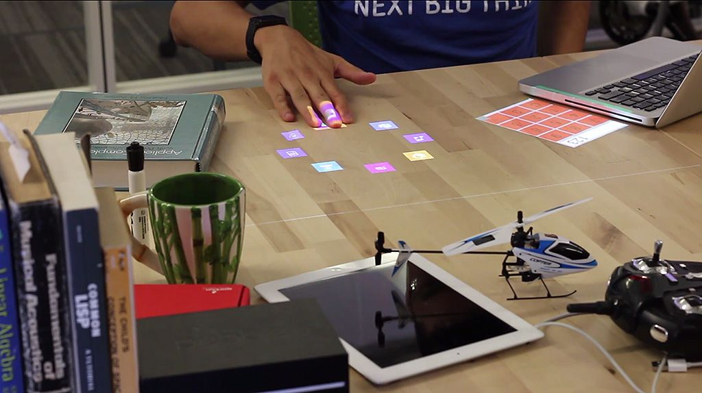 Bulb Projector Lamp Your Desk Turns Into Touch Screen With A Lightbulb