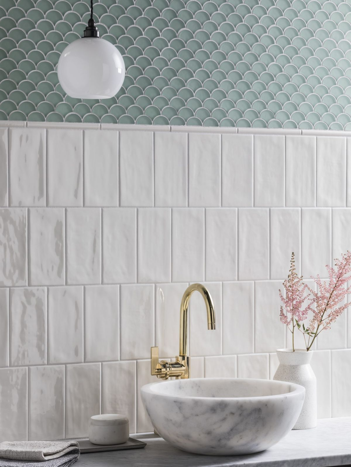 Cool Bathroom Tile Ideas From Metro Tiles To Fish Scale Herringbone Livingetc Livingetcdocument Documenttype