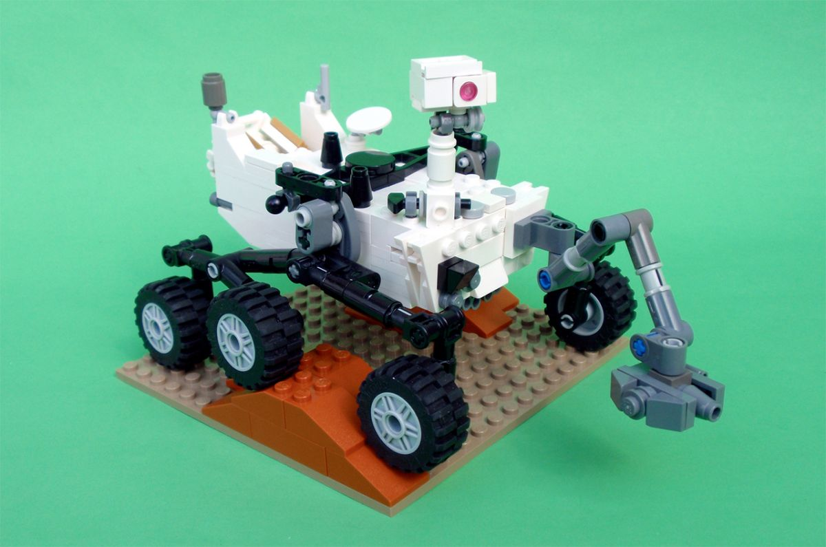 Moon Buggy Diy How To Build Your Own Lego Mars Rover Curiosity Space