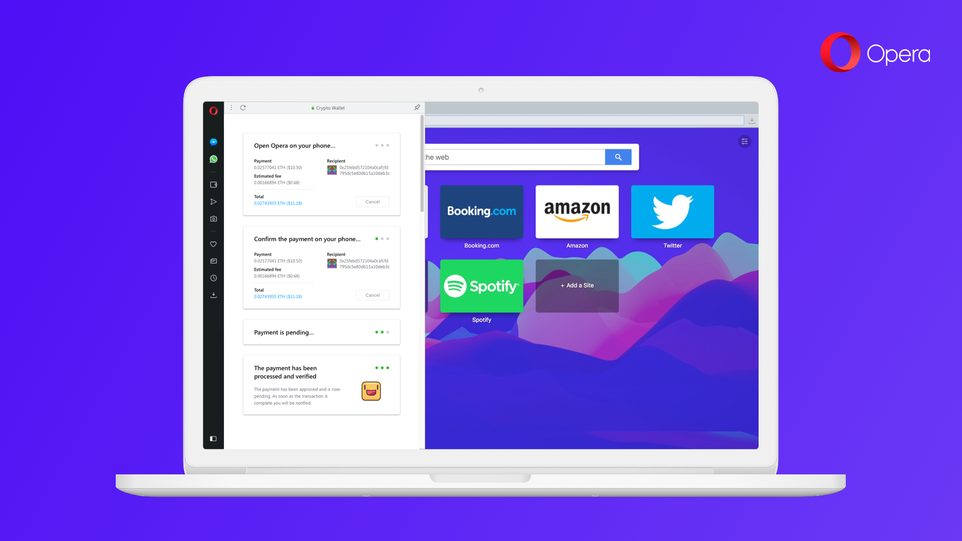 Browser Opera Opera Is Adding Cryptocurrency Wallet Access To Its Pc Browser