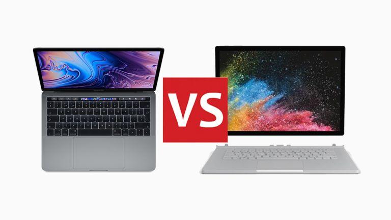 Apple MacBook Pro 2018 vs Microsoft Surface Book 2 head-to-head T3