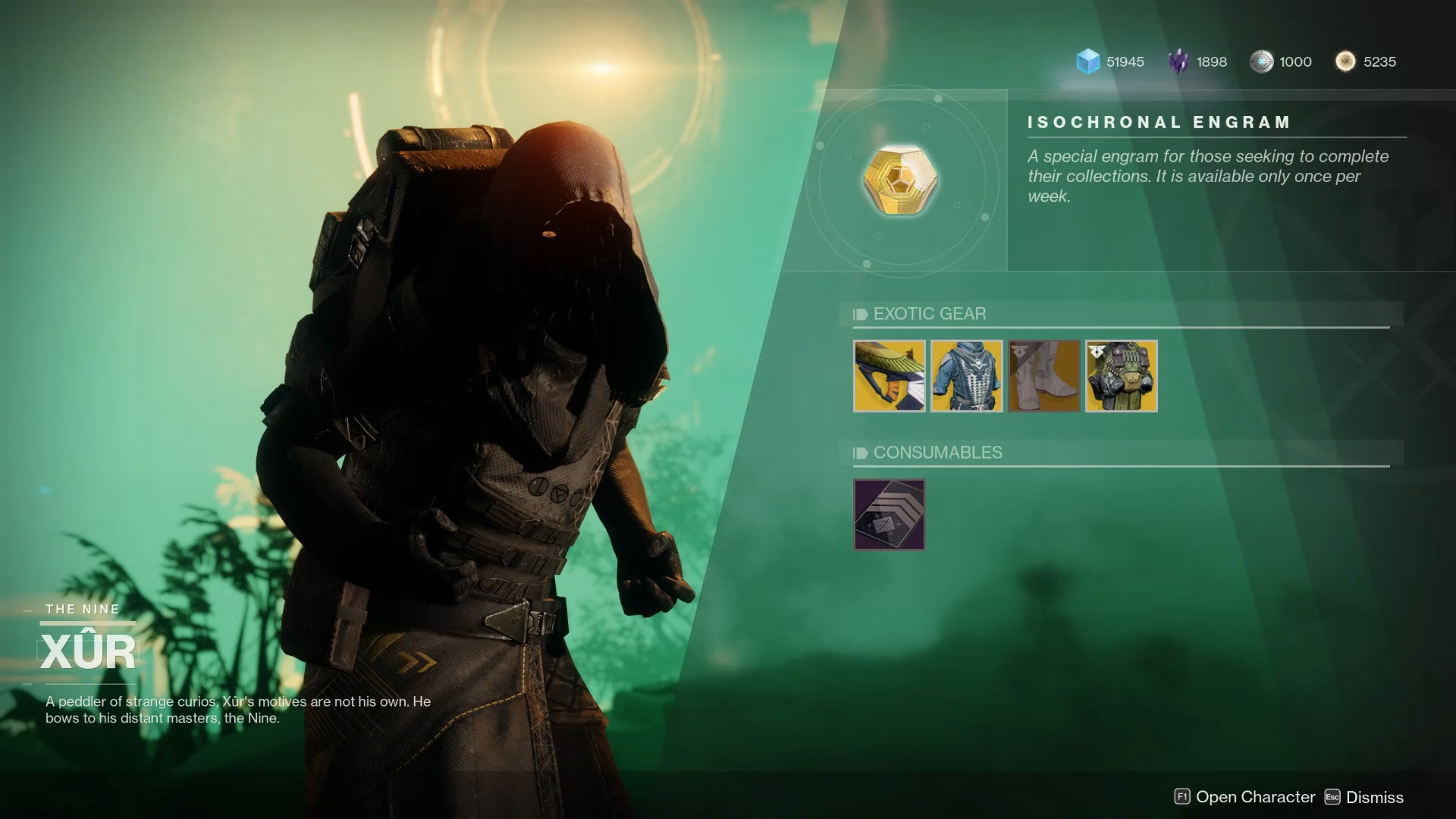 Xur Xur Will Sell Destiny 2 Forsaken Exotics In The Season Of