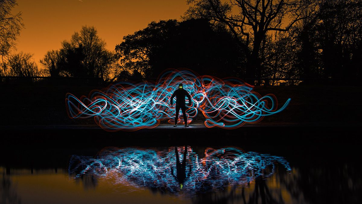 Photo Ideas Use Colored Plastic Cups For Stunning Light Painting Digital Camera World