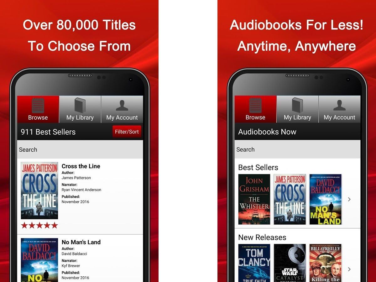Audible App By Amazon Best Audiobook Apps 2019 Free Paid Apps For Android Ios