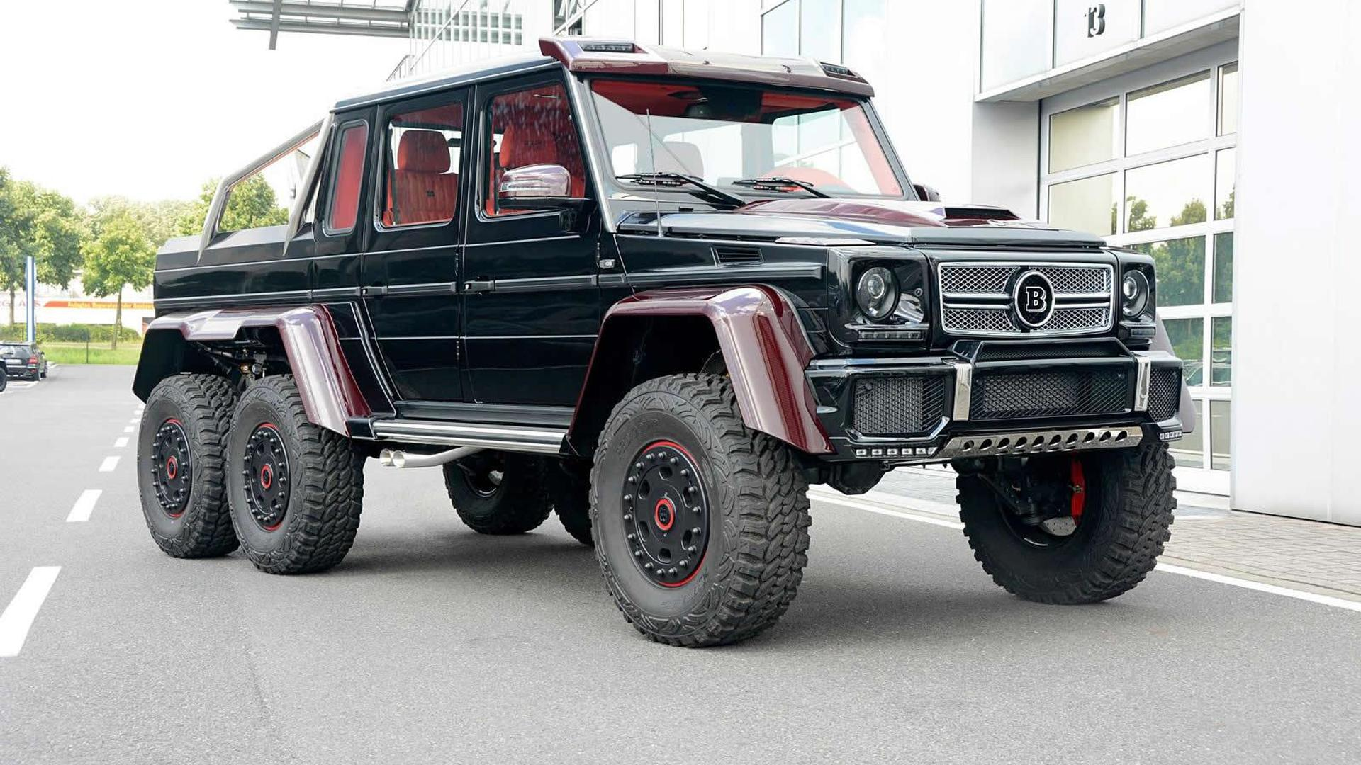 Mercedes Km Brabus Makes Mercedes Benz G63 Amg 6x6 Even More Outlandish With