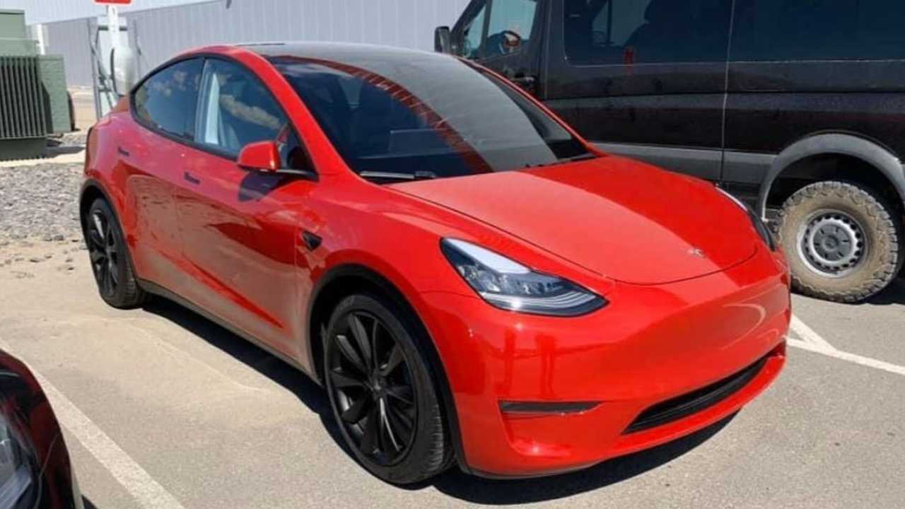 Red 1.com Tesla Model Y Looks Hot In Red More Real World Sightings