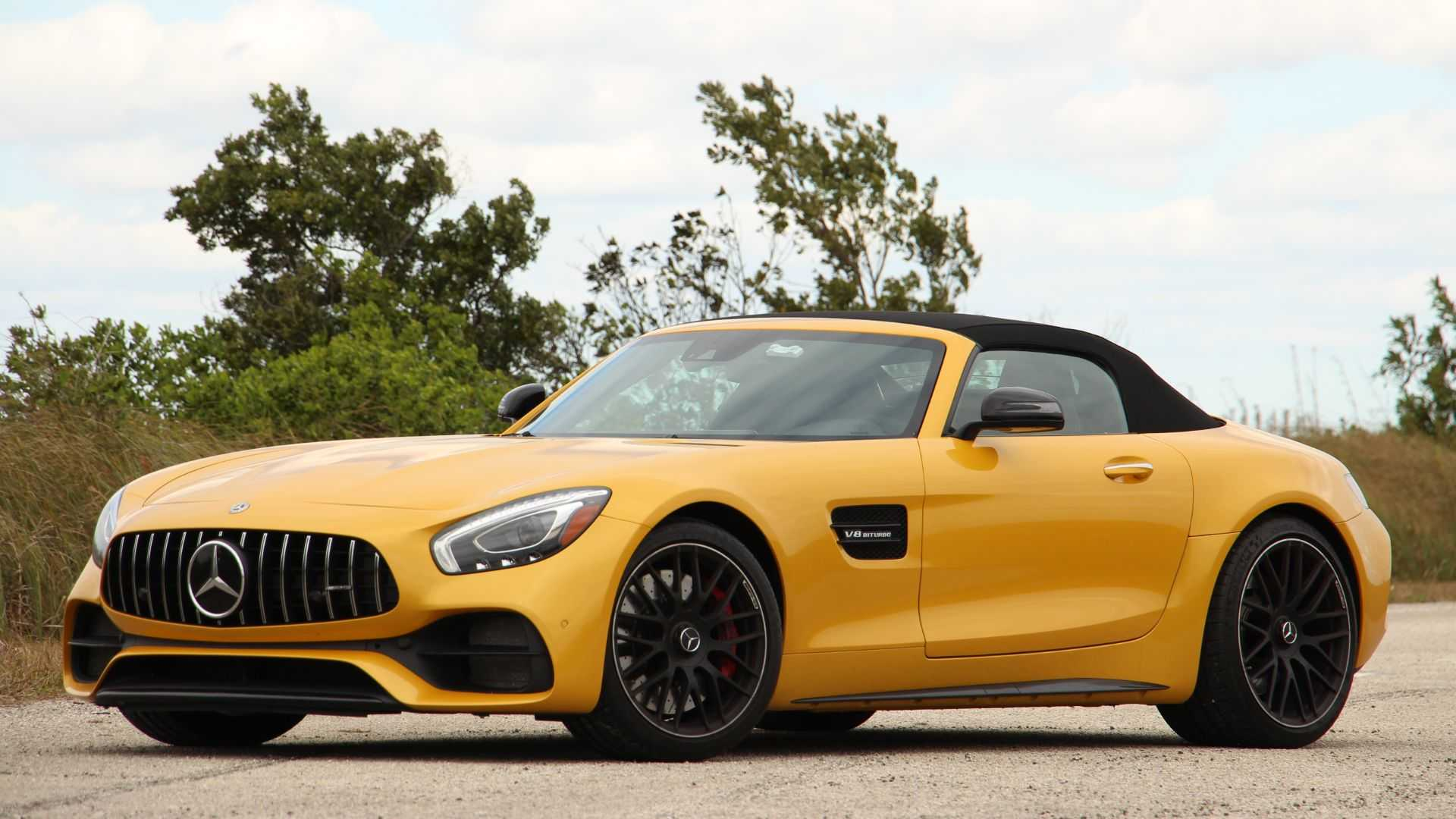 Mercedes Amg 2019 Mercedes Amg Gt C Roadster Review Fast Banana