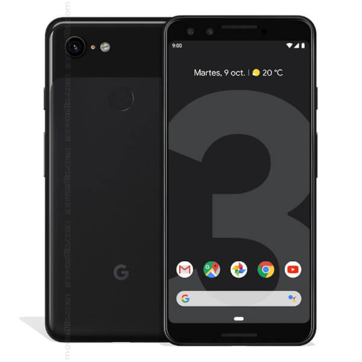 Moviles Libres Blackberry Google Pixel 3 En Negro De 64gb G013a 0842776107640