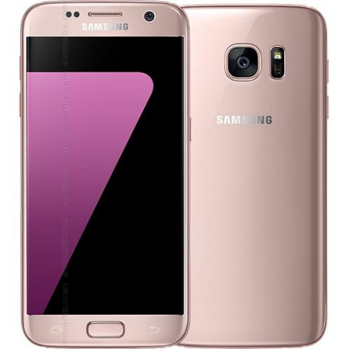 Moviles Libres Blackberry Samsung Galaxy S7 En Rosa Dorado De 32gb G930f