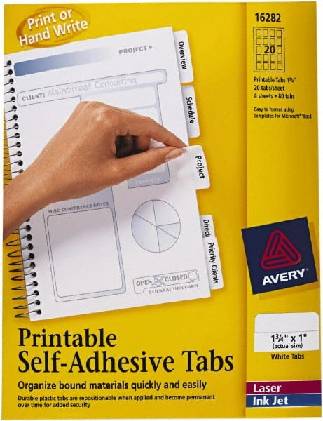 Avery File Tabs MSCDirect